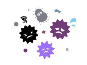 消毒して紫外線を退治する画像