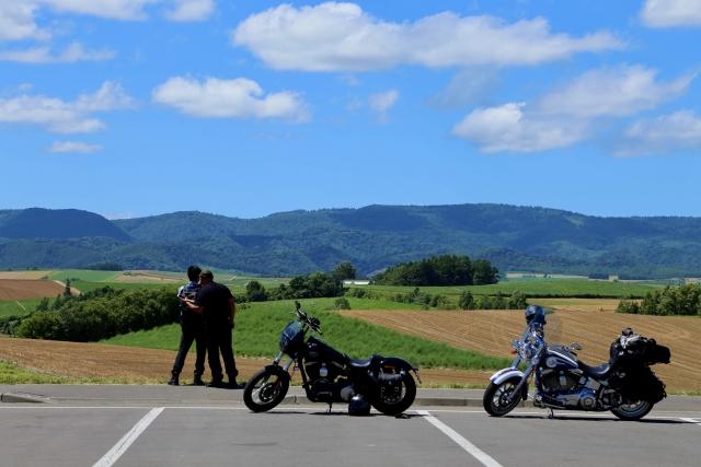 バイクと遠景
